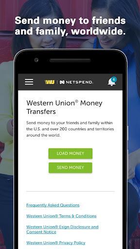 Western Union NetSpend Prepaid screenshot