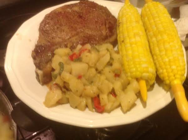 Microwaved Cooked Rib Eye Steaks