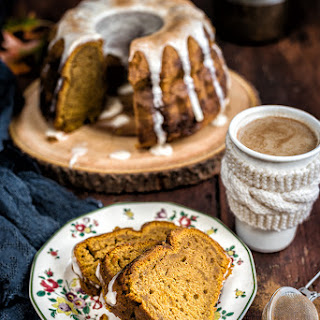 Pumpkin Bundt Cake with Chai Glaze