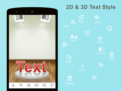 3D Text On Photos screenshot 1