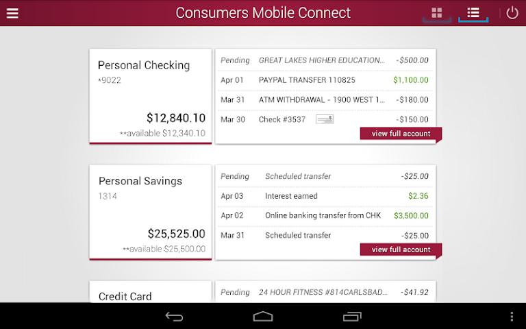 android Consumers National Bank Screenshot 5