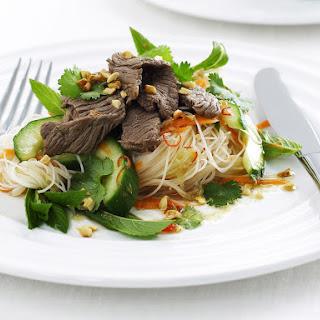 Quick Beef Salad with Citrus Dressing