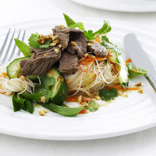 Quick Beef Salad with Citrus Dressing.