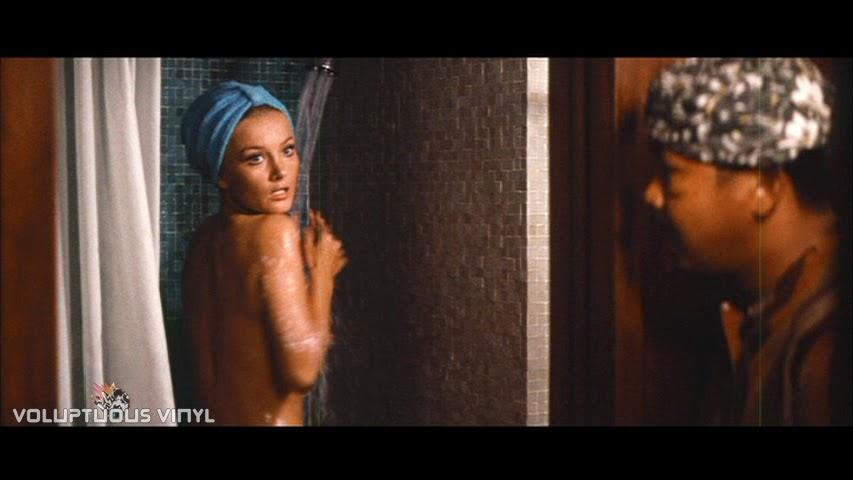 Barbara Bouchet nude in the shower.