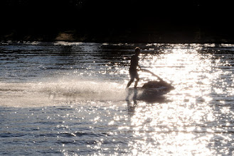 Photo: Jet skiing on Chena River next to Pikes Waterfront Lodge, Fairbanks