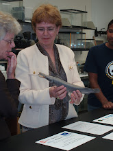 Photo: Presentation to NOAA National Director Dr. Jane Lubchenco (Under Secretary for Commerce and Oceans) and Deputy Under Secretary Mary Glackin. Probably the first NOAA Director in history to hold a Cuban gar!--