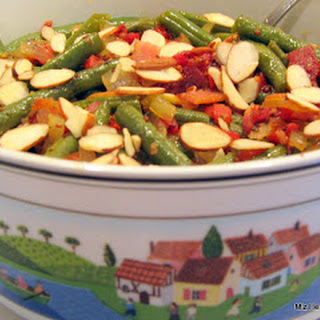 Green Beans with Onion and Bacon Vinaigrette.