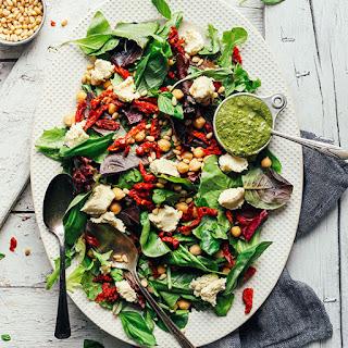 Pesto & Sun-Dried Tomato Green Salad Recipe