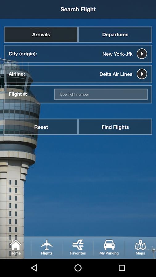 iflyatl atlanta airport app screenshot