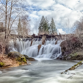 Tumwater Falls by Debbie Slocum Lockwood - Landscapes Waterscapes (  )