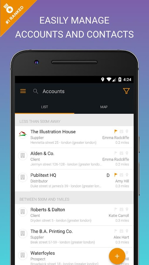 ForceManager mobile CRM- screenshot
