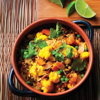 Indian-Style Lentil & Cauliflower Biryani.