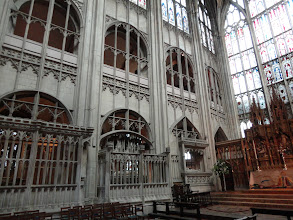 Photo: The choir of Gloucester Cathedral