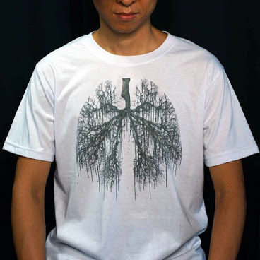 Melting lung tree tshirt (white)