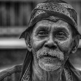 Black Old Man by Joe Joe - Black & White Portraits & People