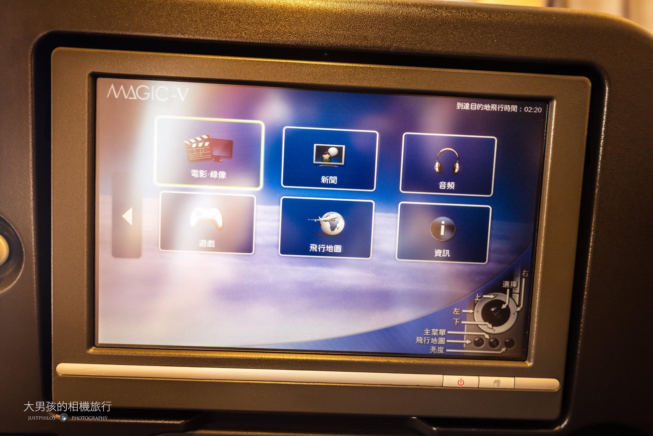 日航JAL SKY SUITE新艙的AVOD螢幕相當清晰,是具現代新機的規格。