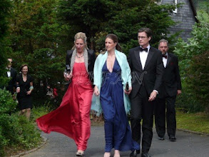 Photo: Donna Natascha Litta Modignani Marchesa di Menzaggo e Vinago, née Princss zu Sayn-Wittgenstein-Berleburg, Marie Le Maire, née Princess zu Sayn-Wittgenstein-Berleburg and Olivier Le Maire