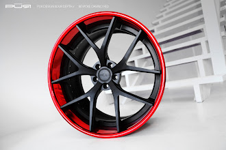 Photo: PUR WHEELS DESIGN 4OUR DEPTH BESPOKE DAVINCI RED http://www.ac.auone-net.jp/~ever_g/tire/index.html