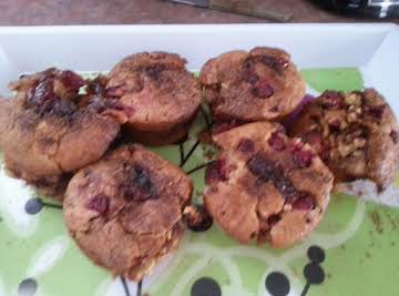 Spiced Apple Cranberry Muffins