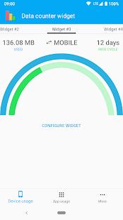 Data counter widget    - usage Screenshot