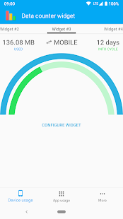 Data counter widget - data usage |?data manager