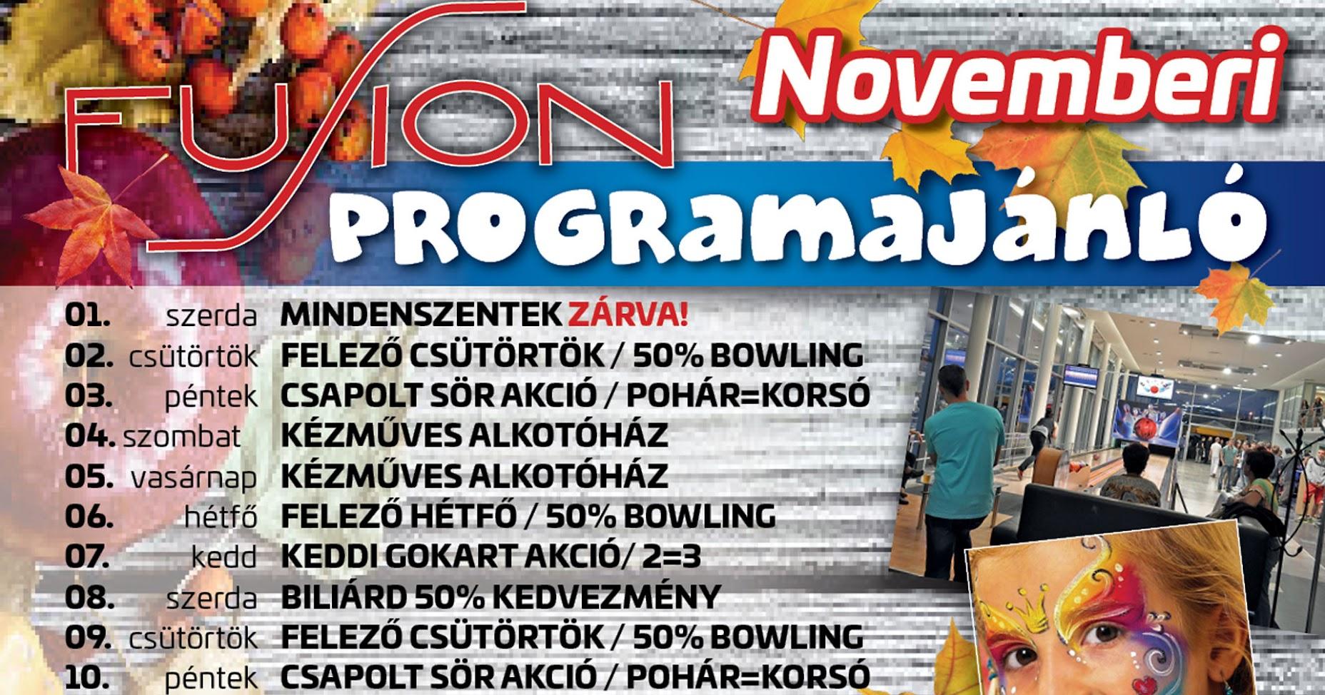 2017 novemberi programajánló