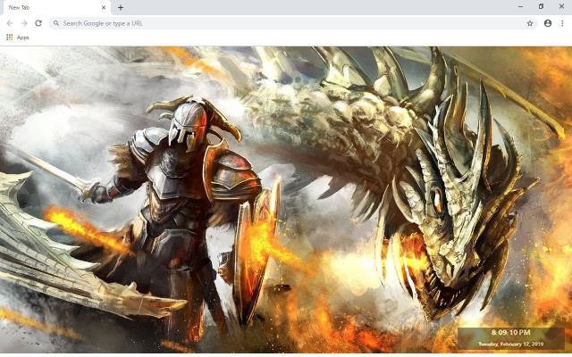 Dragon New Tab & Wallpapers Collection