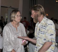 Photo: Bob Bergdahl with Col. Ann Wright