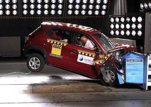 The Renault Kwid performed poorly in the Global NCAP crash test. Brazil has an improved version of the Kwid, but SA does not. Picture: GLOBAL NCAP