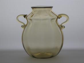 Photo: C.V.M. Cappellin Venini & C. soffiato vase with handles. Cirica 1925 - 1930.
