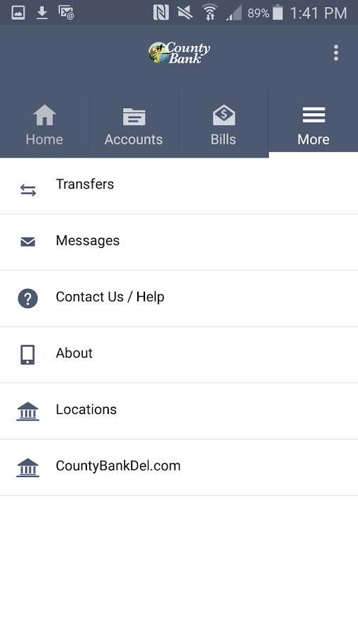 County Bank Mobile- screenshot