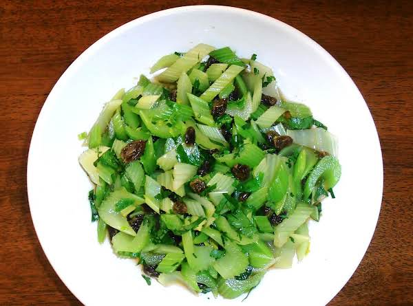 Asian Celery & Raisin Salad