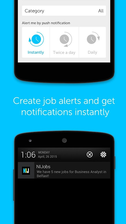 NIJobs job search app- screenshot