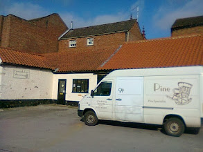 Photo: The old stables at the rear of the Bull, previously inhabited by Horncastle Pine - will be given over to antiques shortly.