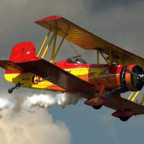 Bi-Plane B by Larry Bidwell - Transportation Airplanes (  )