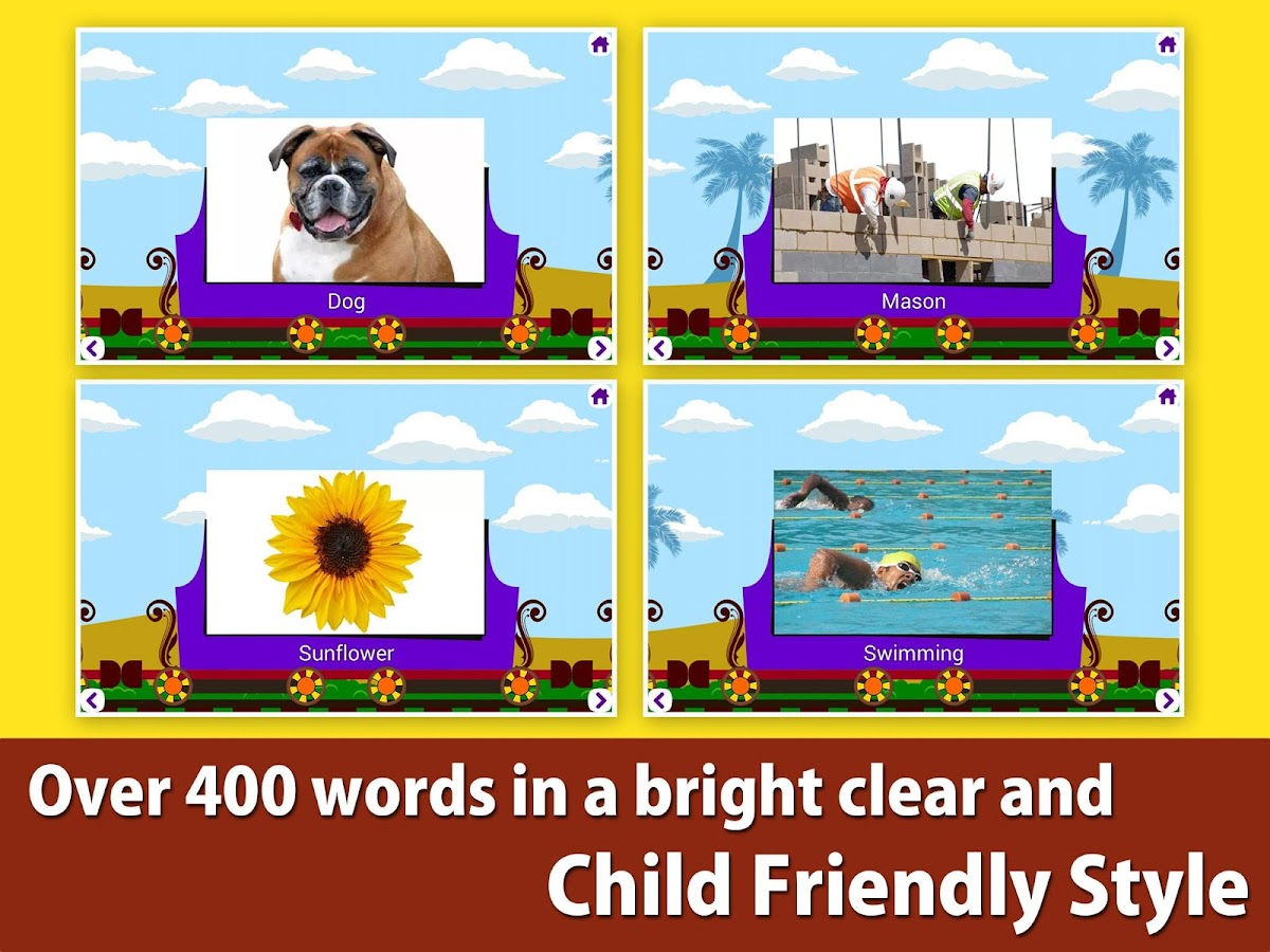 Kids picture dictionary, words- screenshot