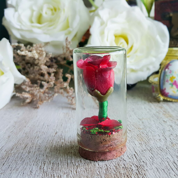 Miniature Beauty & the Beast Inspired Rose