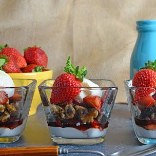 Balsamic Strawberry Parfait
