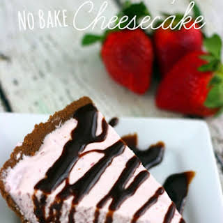 Strawberry No Bake Cheesecake.