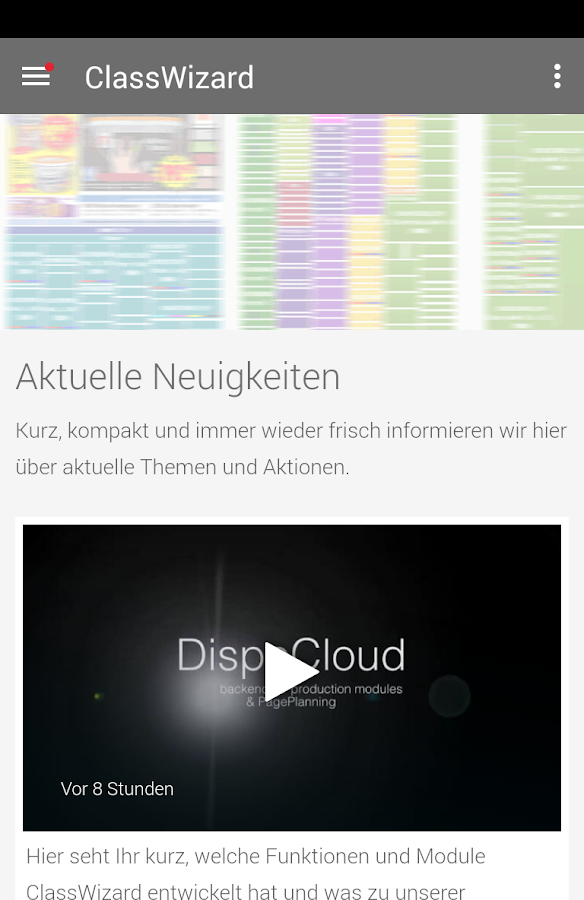 ClassWizard GmbH – Screenshot