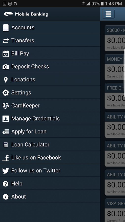 UFCU Mobile Banking- screenshot
