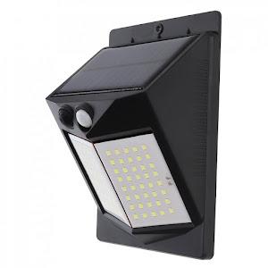 Lampa solara 80 LED cu senzor de miscare, unghi 120 de grade, 3 moduri