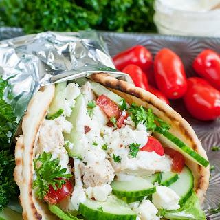 Easy Chicken Gyros with Greek Feta Sauce Recipe