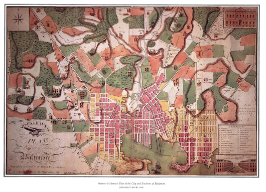 Thomas Poppleton's Surveyor's Map that Made Baltimore, 1822