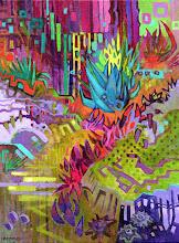 "Photo: ""Garden Fireworks"", Acrylic on Canvas 16"" x 12"", © Nancy Roberts"