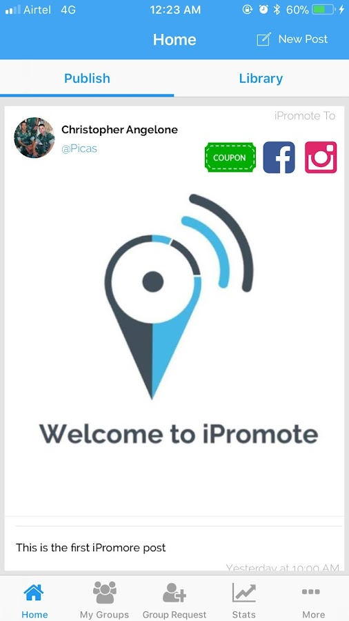 IPromote- screenshot