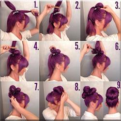 Gaya rambut cewek selangkah demi selangkah