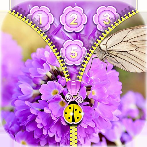 Purple Flower Zipper Locker Icon
