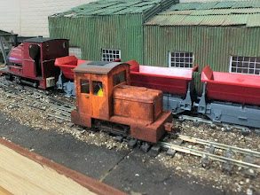 Photo: 014 This attractive little diesel loco, spotted working on Ashe Wharf, was built by Brian Orton .