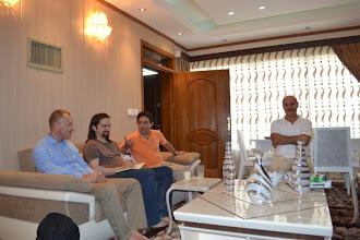 Photo: with Jamal Jabar Kherib, Kurdish writer writing in Sorani dialect and dr Hashem Ahmedzadeh, Hawler